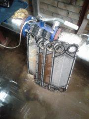 Промывка теплообменников в торговом центре г. Ломоносов
