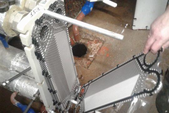 Промывка теплообменников разборным способом с химией